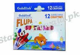 Crayon Colour 12pc Large Goldfish