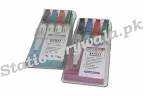 OHP Marker Set 4pcs Monami Brand (non-permanent)